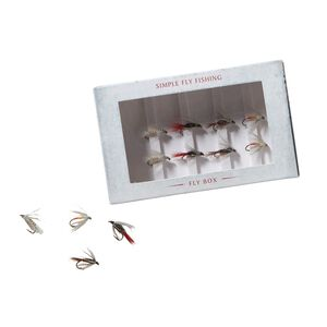 Simple Fly Fishing - Box of Flies, Multi-Color (ZOO-181)