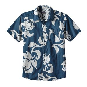 M's Go To Shirt, Exotic Floral: Glass Blue (EXGB)