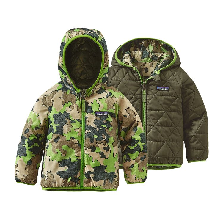 BABY REVERSIBLE PUFF-BALL JKT, Sycamore Camo: Hydro Green (SCHG)