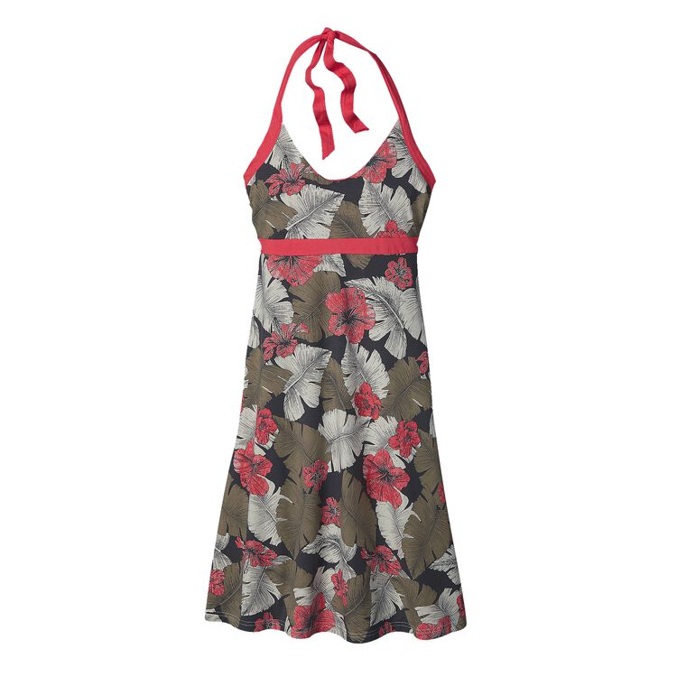 W'S ILIANA HALTER DRESS, Best Fronds: Forge Grey (BFFG)