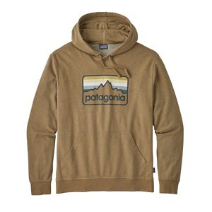 M's Line Logo Badge Lightweight Hoody, Coriander Brown (COI)