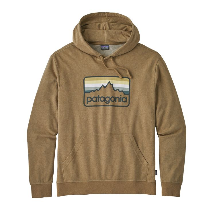 M'S LINE LOGO BADGE LW HOODY, Coriander Brown (COI)