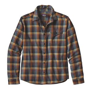M's Long-Sleeved Lightweight Fjord Flannel Shirt, Navigate: Tapenade (NVTD)