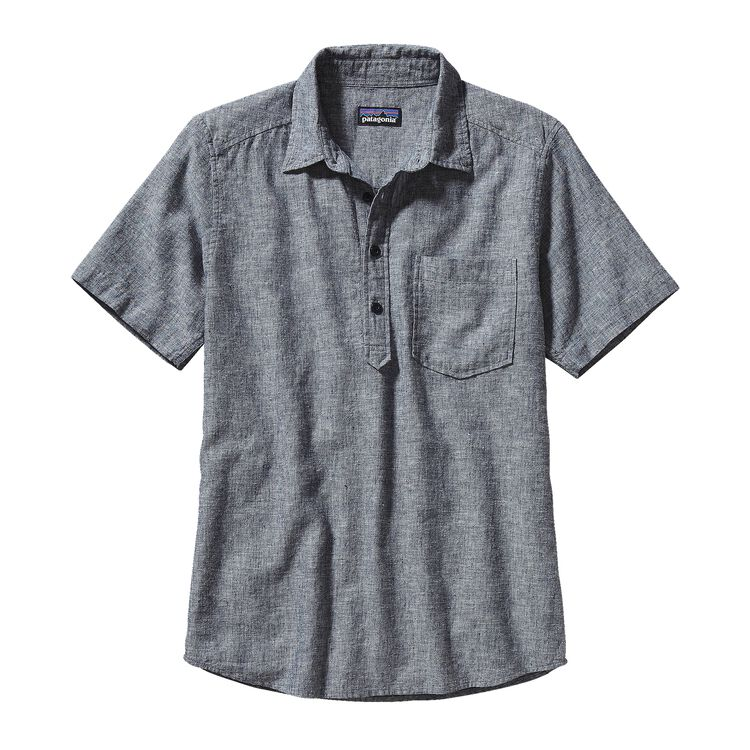 M'S BACK STEP P/O SHIRT, Chambray: Navy Blue (CBYN)