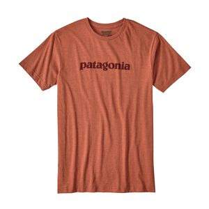M's Text Logo Organic Cotton/Poly T-Shirt, Canyon Brown (CYNB)