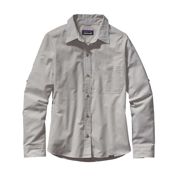W'S L/S ISLAND HOPPER II SHIRT, Dusty: Tailored Grey (DSTG)