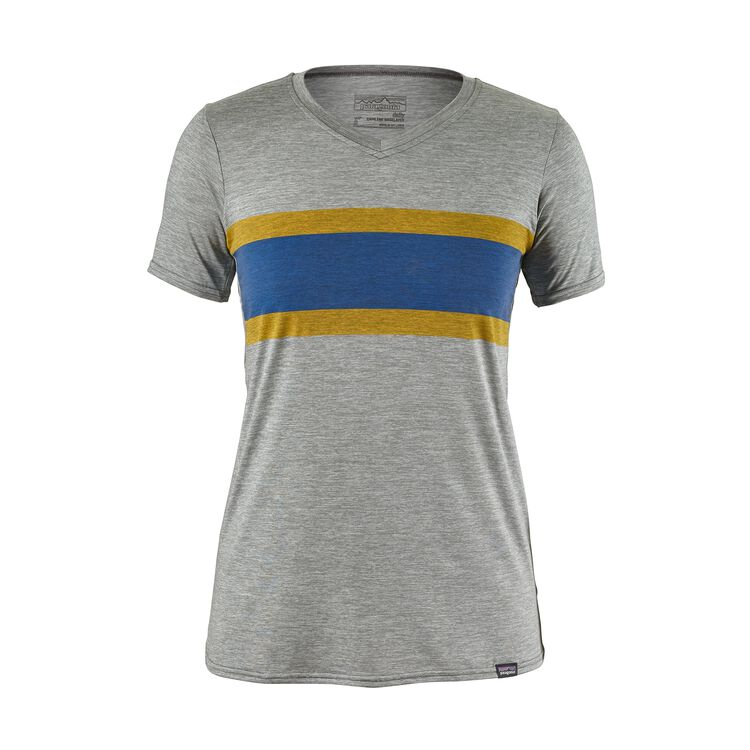 W'S CAP DAILY GRAPHIC T-SHIRT, Rugby Stripe: Feather Grey (RSFE)