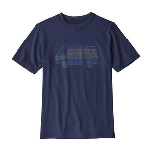 Boys' Capilene® Silkweight Graphic Tee, Classic Navy (CNY)