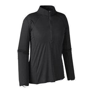 W'S CAP LW ZIP NECK, Black (BLK)