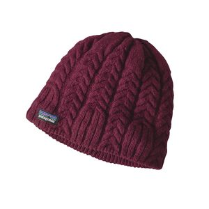W's Cable Beanie, Magenta (MAG)