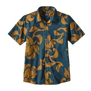 M's Go To Shirt, Exotic Floral: Bay Blue (EFBY)