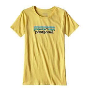 ウィメンズ・パステル・P-6 ロゴ・オーガニック・クルー・Tシャツ, Yoke Yellow (YKYW)