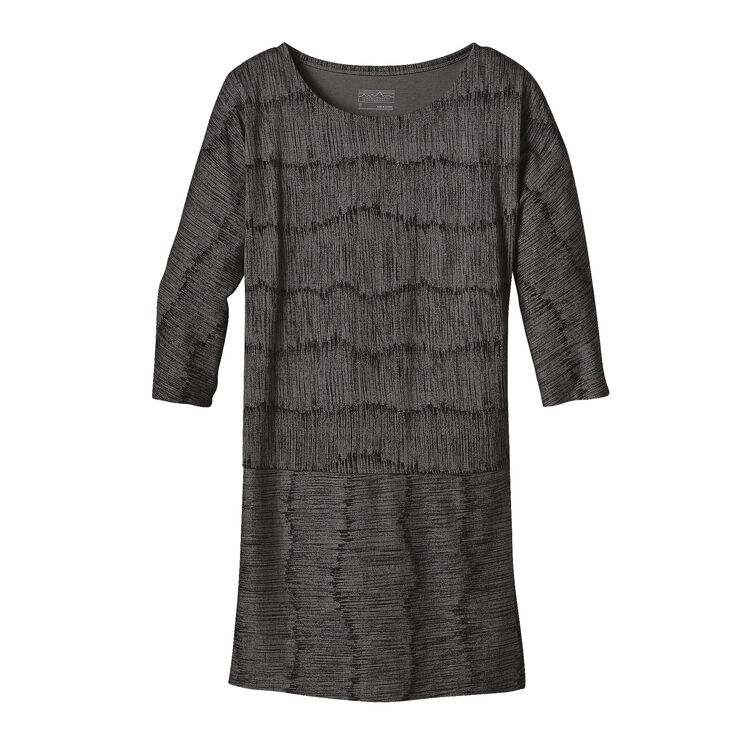 W'S KAMALA 3/4 SLEEVE DRESS, Barky Bark: Forge Grey (BBFG)