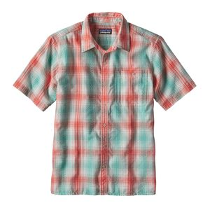 M'S PUCKERWARE SHIRT - SLIM, Costa: Galah Green (CSGG)