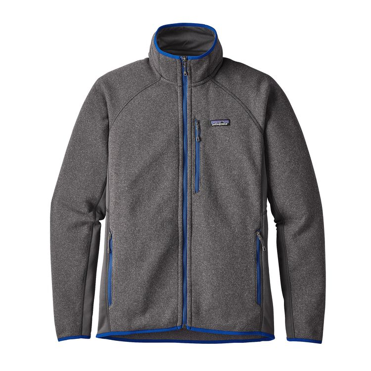メンズ・パフォーマンス・ベター・セーター・ジャケット, Forge Grey w/Viking Blue (FGVK)