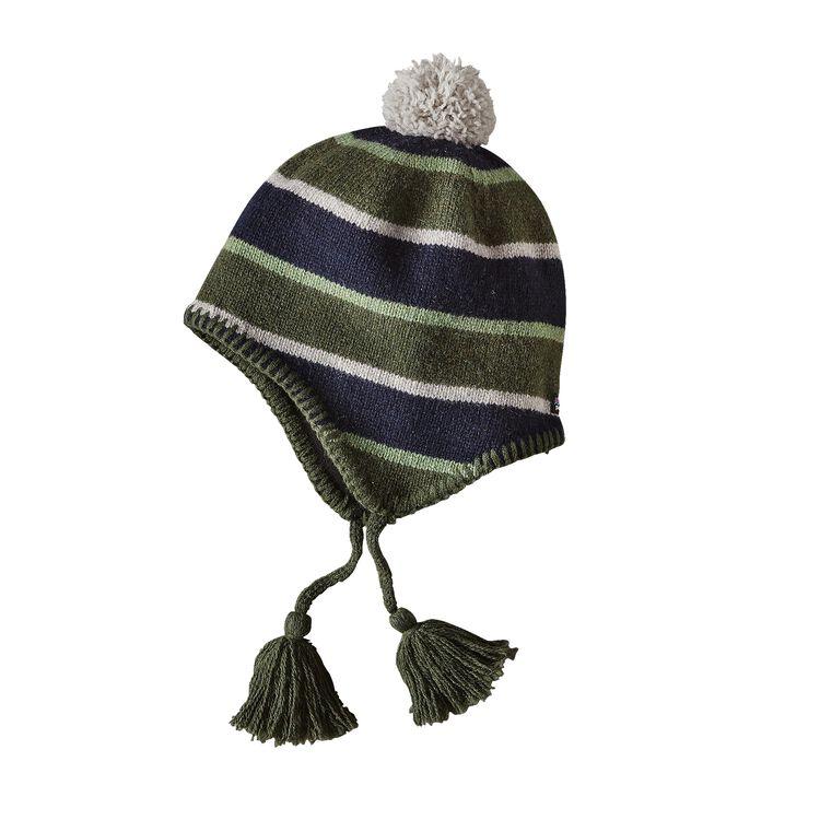 K'S WOOLLY HAT, Scaler Stripe: Industrial Green (SSIN)