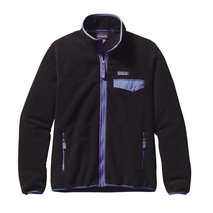 W'S FULL-ZIP SNAP-T JKT, Black w/Violet Blue (BVTB)