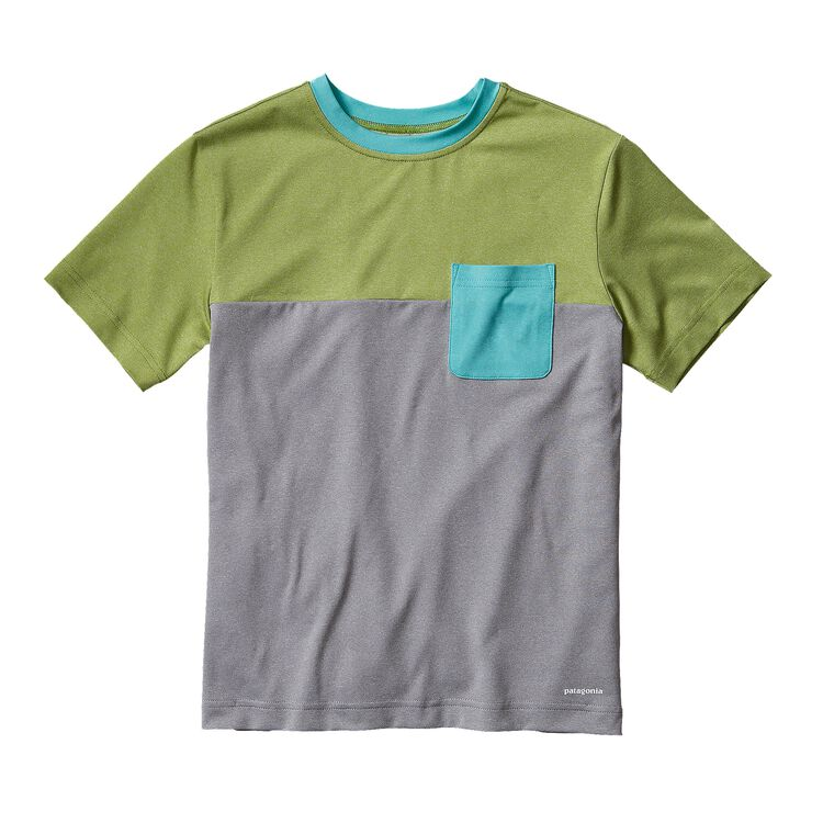 BOYS' CAP DAILY COLORBLOCK TEE, Feather Grey (FEA)