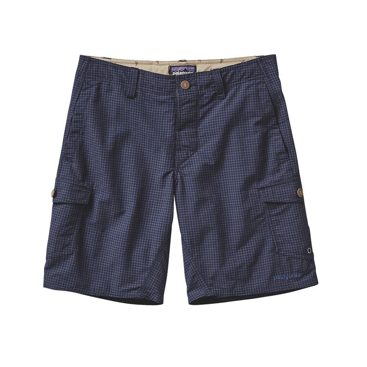 M'S WAVEFARER CARGO SHORTS - 20 IN., Grid Man: Navy Blue (GDNV)