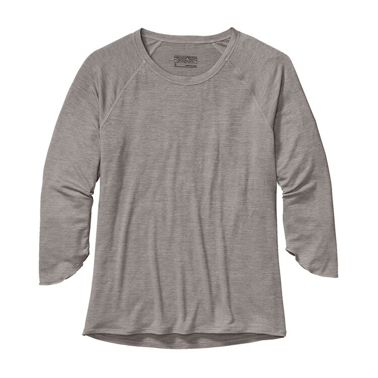 W'S GLORYA 3/4 SLEEVE TOP, Drifter Grey (DFTG)