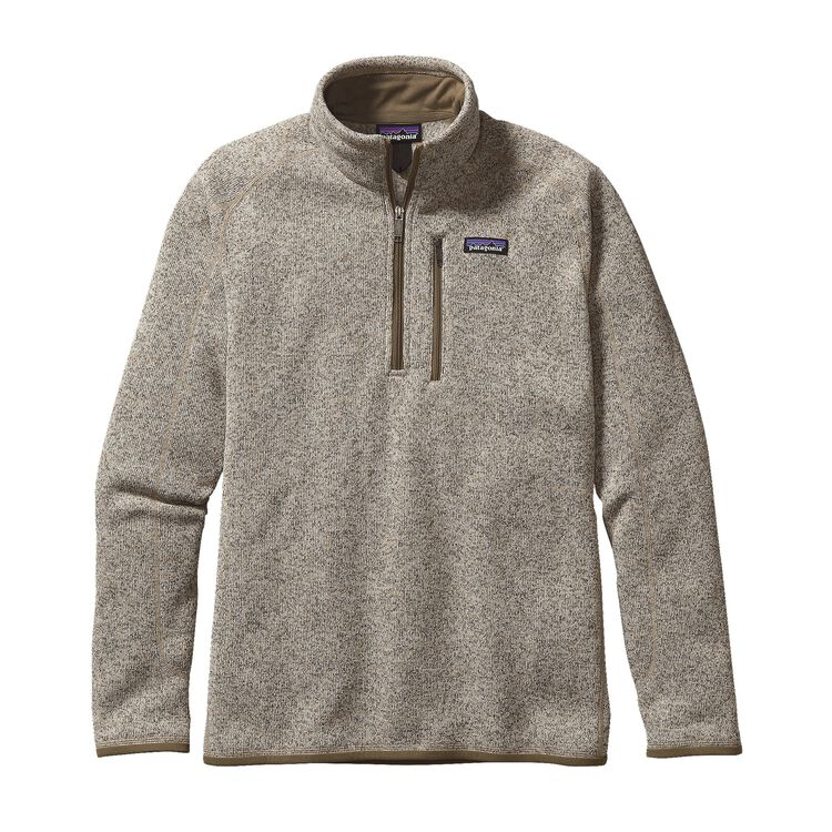M'S BETTER SWEATER 1/4 ZIP, Bleached Stone (BLST)