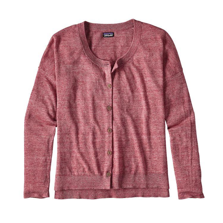 ウィメンズ・ライトウェイト・リネン・カーディガン, Craft Pink (CFTP)