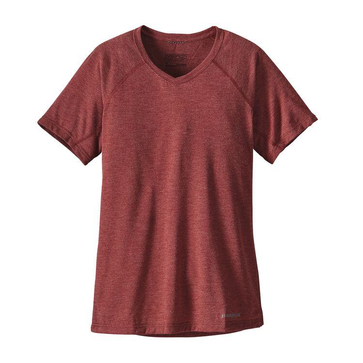 W'S S/S NINE TRAILS SHIRT, Drumfire Red (DRMF)