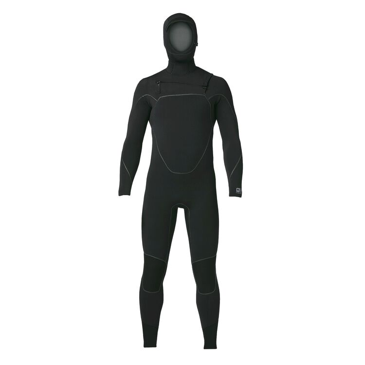 M'S R5 YULEX FZ HOODED FULL SUIT, Black (BLK)