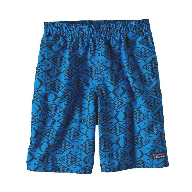 ボーイズ・バギーズ・ショーツ(股下18cm), Ikat Fish Small: Andes Blue (ISAB)
