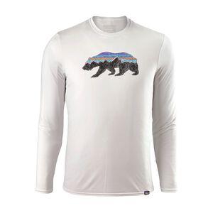 メンズ・キャプリーン・デイリー・ロングスリーブ・グラフィック・Tシャツ, Fitz Roy Bear: White (FBWT)
