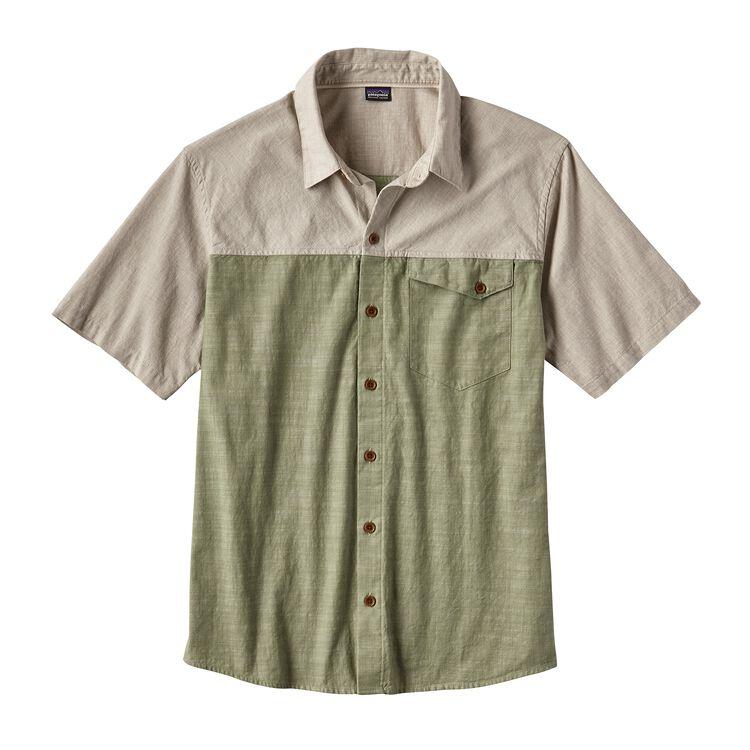 メンズ・クリーン・カラー・ショートスリーブ・シャツ, Clean Mulberry Green (CMYG)