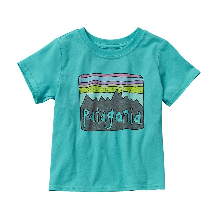 BABY FITZ ROY SKIES COTTON T-SHIRT, Howling Turquoise (HWLT)