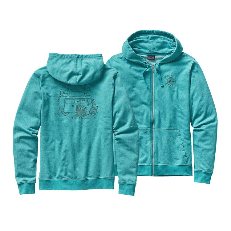 M'S SURF VAN LW FULL-ZIP HOODED SWEATSHI, Howling Turquoise (HWLT)