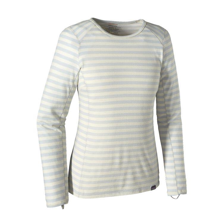 W'S MERINO TW CREW, Pearson Stripe: Birch White/Tailored Grey (PBTG)