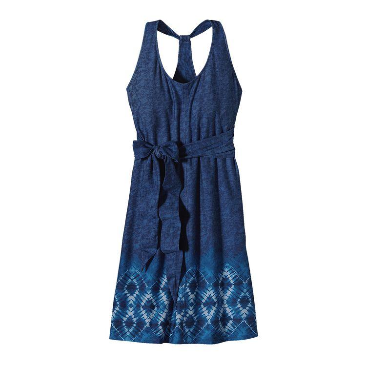 ウィメンズ・キアワ・アイランド・ドレス, Moon Child Border: Navy Blue (MNNA)