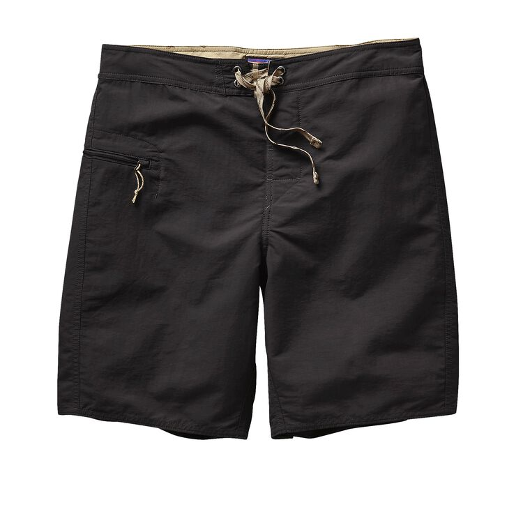 M'S SOLID WAVEFARER BOARD SHORTS - 19 IN, Black (BLK)