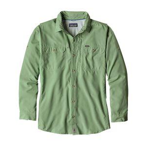 メンズ・ロングスリーブ・ソル・パトロールII・シャツ, Transit Green (TRNG)