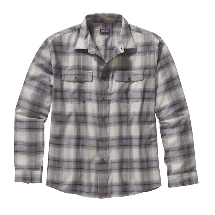 M'S L/S BUCKSHOT SHIRT, Echoes: Feather Grey (ECFY)