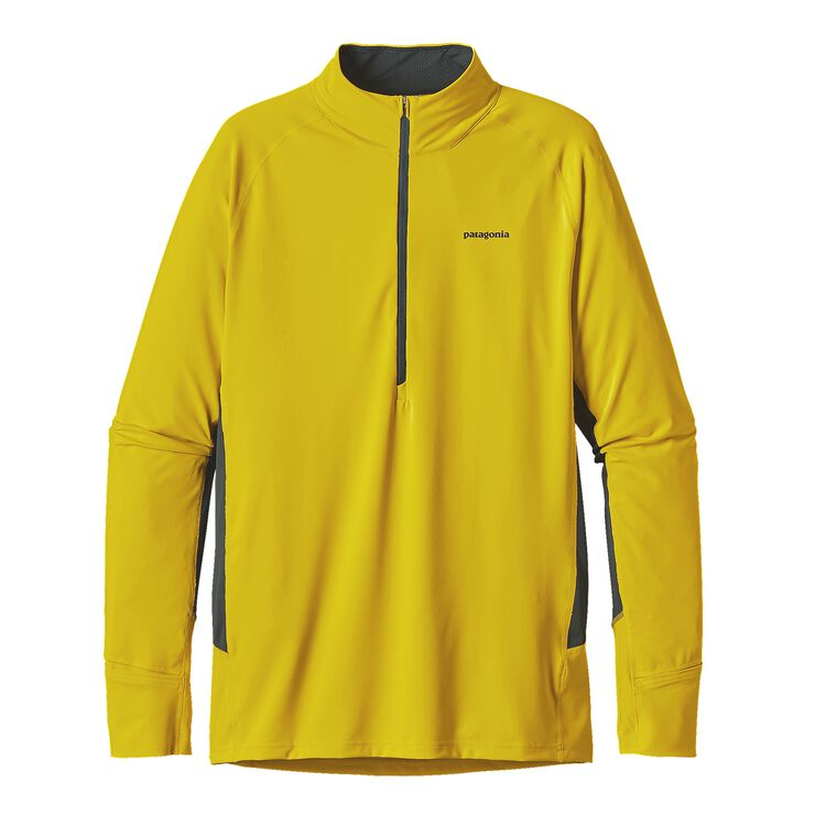 M'S ALL WEATHER ZIP NECK, Yosemite Yellow (YSMY)