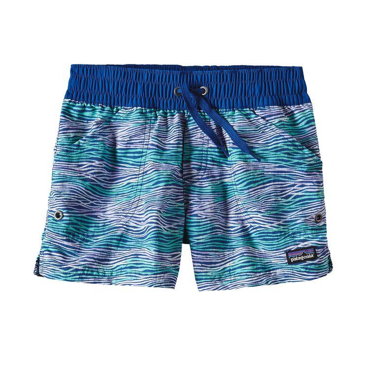 ガールズ・コスタリカ・バギーズ・ショーツ, Reef Waves: Superior Blue (RWSP)