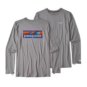 メンズ・RØ ロングスリーブ・サン・ティー, Boardshort Logo: Feather Grey (BOLF)
