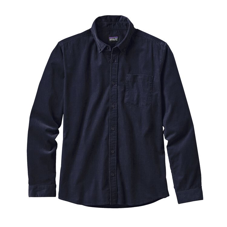 メンズ・ロングスリーブ・ブラフサイド・コード・シャツ, Navy Blue (NVYB)