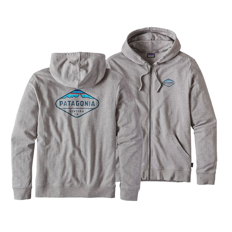 M'S FITZ ROY CREST LW FULL-ZIP HOODY, Feather Grey (FEA)