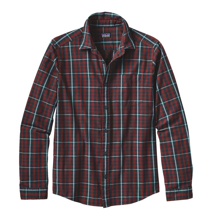M'S L/S BLUFFSIDE SHIRT, Twigster: Cinder Red (TWCR)