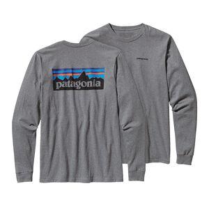 メンズ・ロングスリーブ・P-6ロゴ・コットン・Tシャツ, Gravel Heather (GLH)