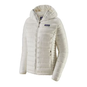 W's Down Sweater Hoody, Birch White (BCW)