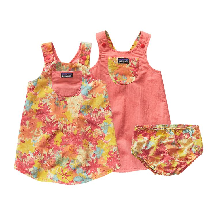BABY REVERSIBLE BAGGIES JUMPER, Neo Tropics Lite: Blazing Yellow (NBZY)
