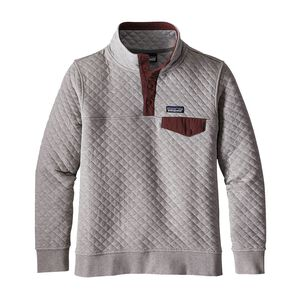 W's Cotton Quilt Snap-T® Pullover, Drifter Grey w/Dark Ruby (DDRB)