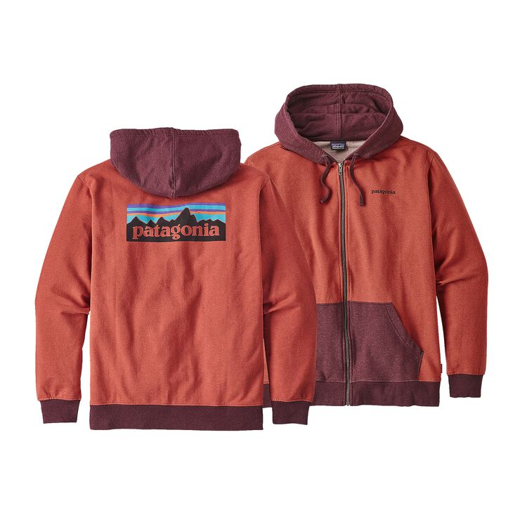 M'S P-6 LOGO MW FULL-ZIP HOODY, Roots Red (RTSR)