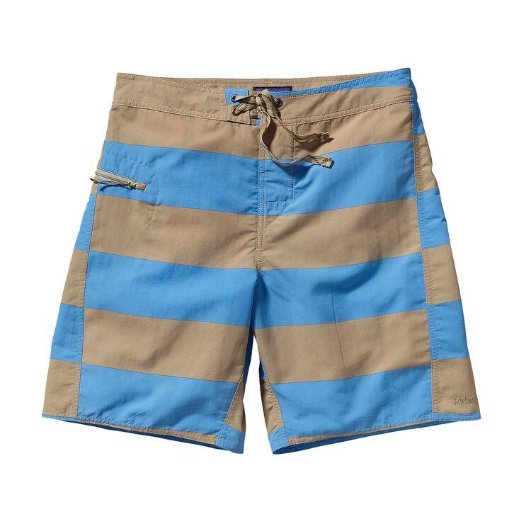メンズ・ミニマリスト・ウェーブフェアラー・ボード・ショーツ(48cm) , Alisal Stripe: Skipper Blue (AISB)